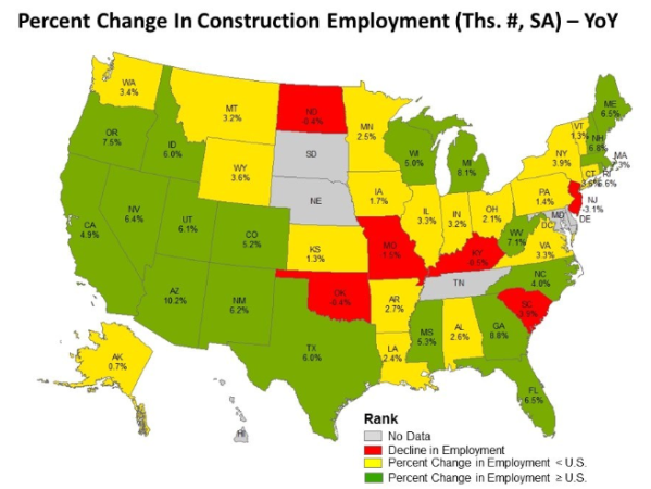construction employment map
